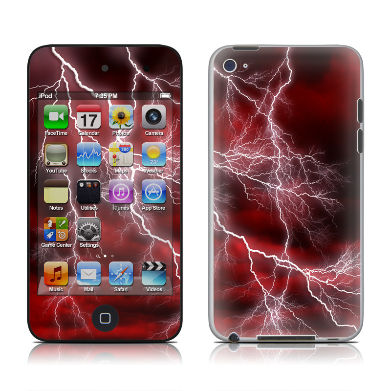 Apocalypse Red iPod touch 4th Gen Skin