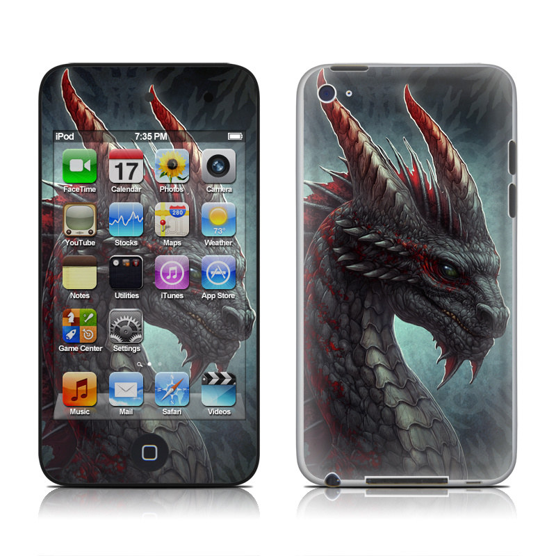 Black Dragon iPod touch 4th Gen Skin