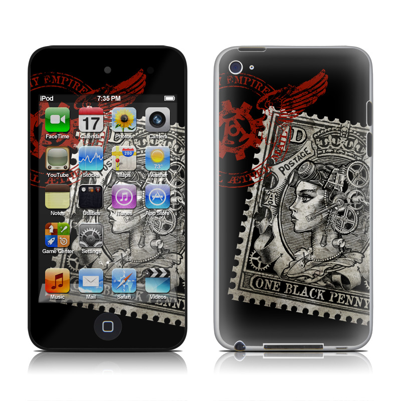 Black Penny iPod touch 4th Gen Skin