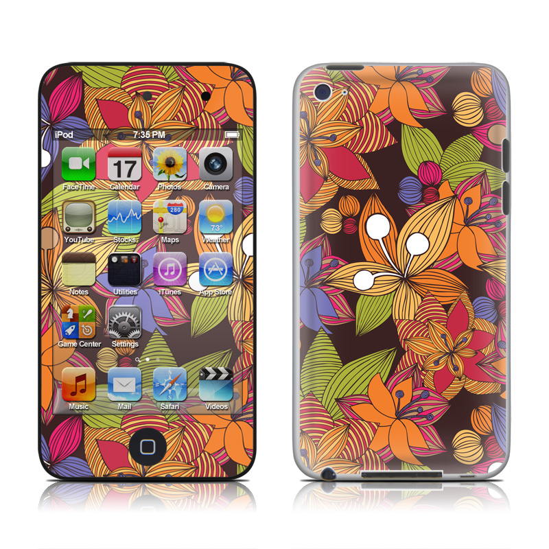 Blooming iPod touch 4th Gen Skin