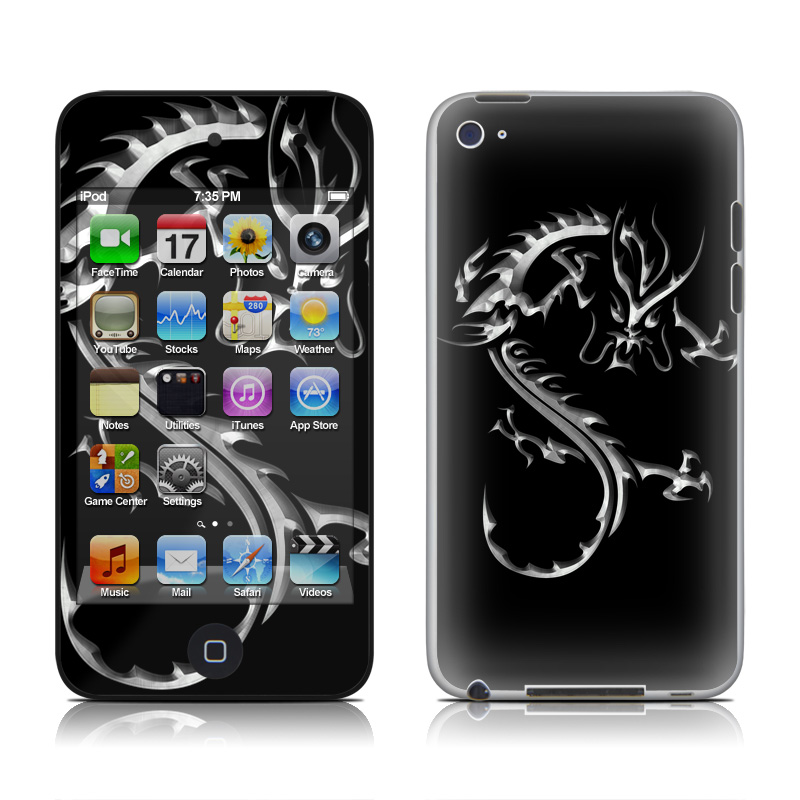 Chrome Dragon iPod touch 4th Gen Skin
