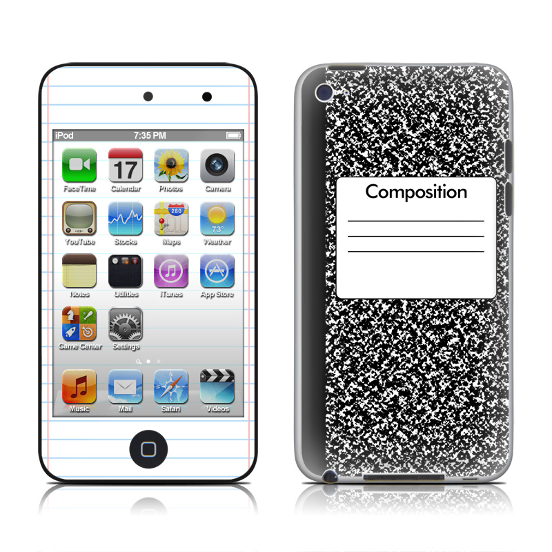 Composition Notebook Ipod Touch 4th Gen Skin Istyles