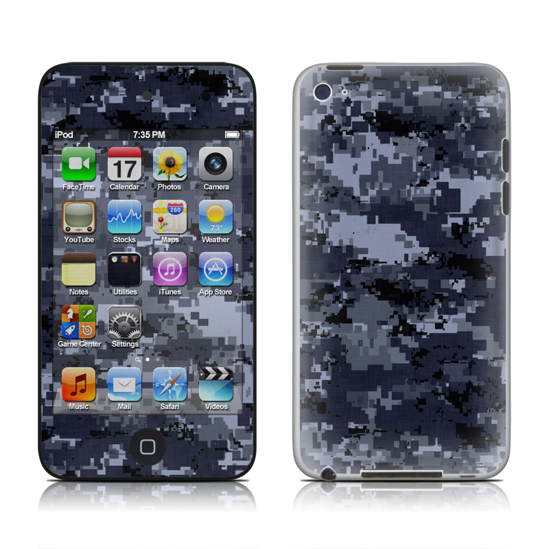 Digital Navy Camo iPod touch 4th Gen Skin
