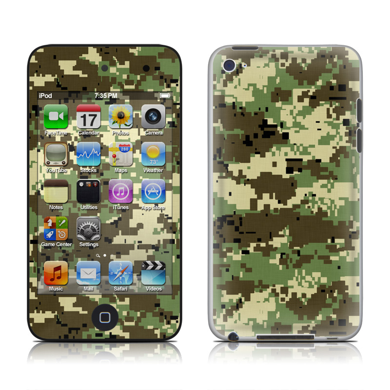 Digital Woodland Camo iPod touch 4th Gen Skin