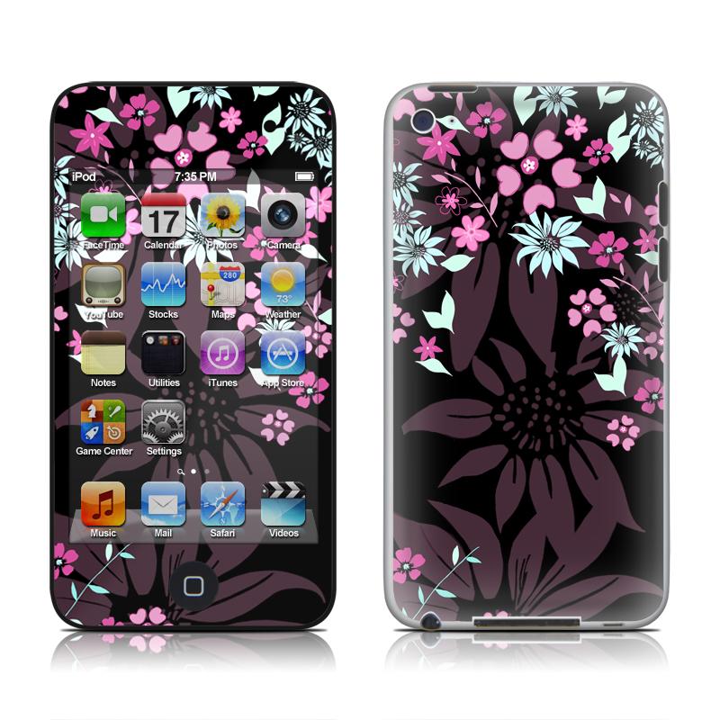 Dark Flowers iPod touch 4th Gen Skin