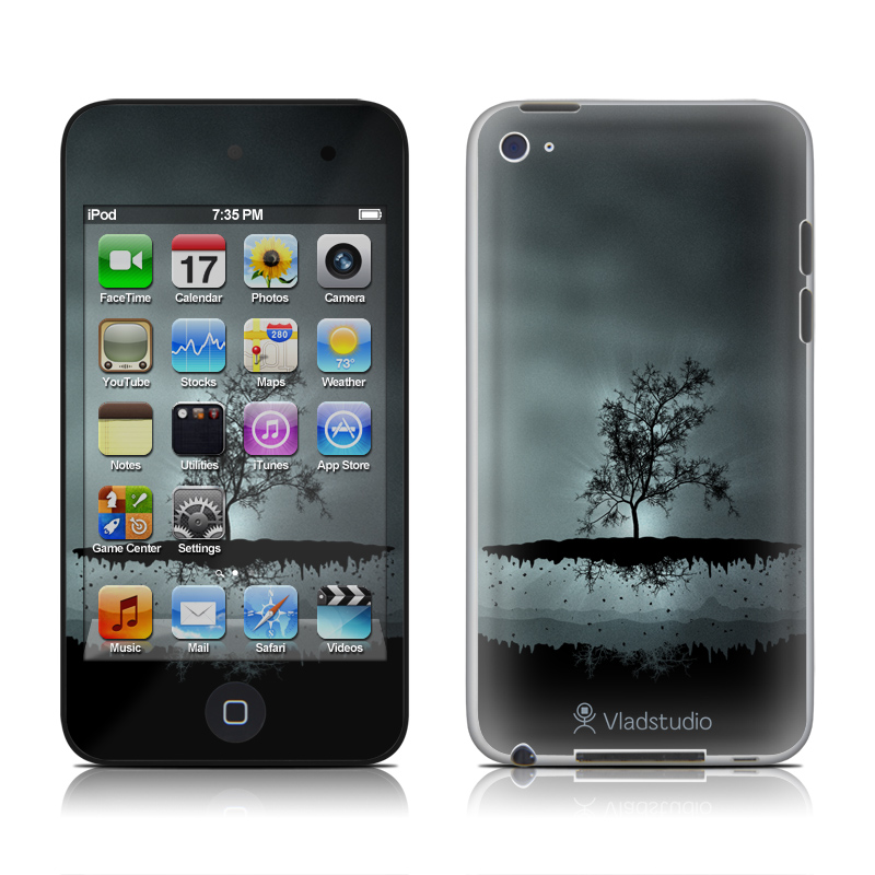 Flying Tree Black iPod touch 4th Gen Skin