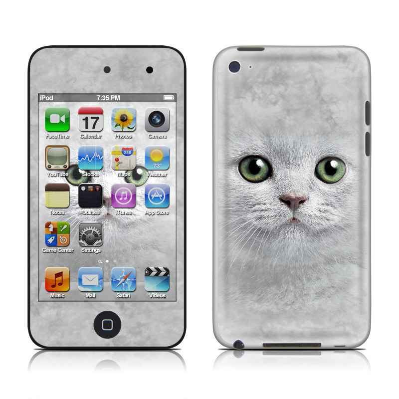 Grey Kitty iPod touch 4th Gen Skin