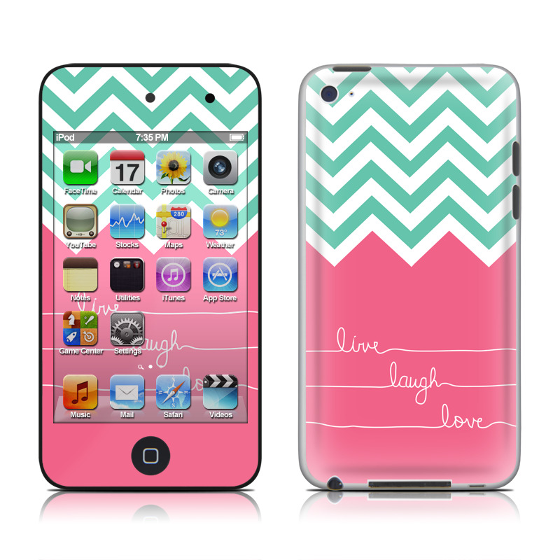 Live Laugh Love iPod touch 4th Gen Skin