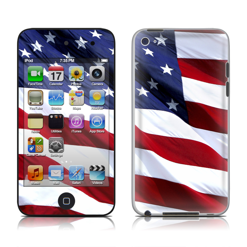 Patriotic iPod touch 4th Gen Skin