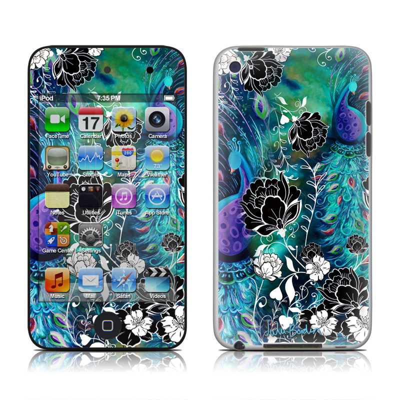 Peacock Garden iPod touch 4th Gen Skin