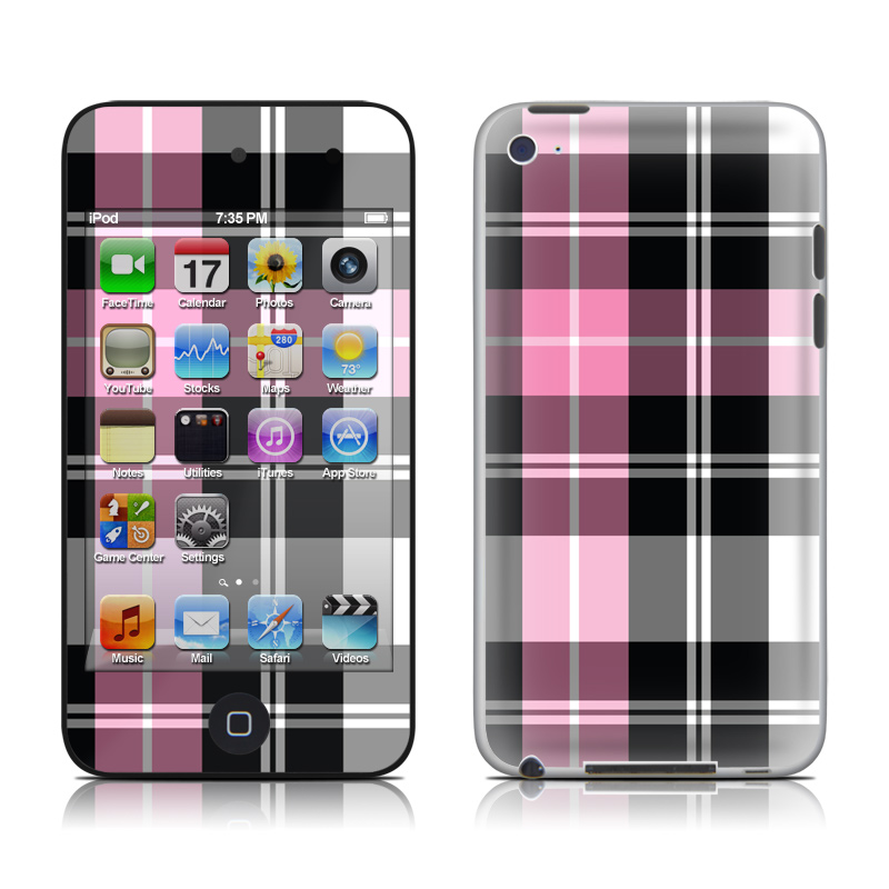 Pink Plaid iPod touch 4th Gen Skin