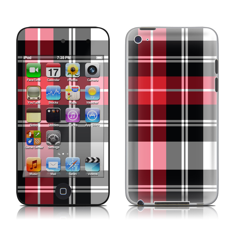 Red Plaid iPod touch 4th Gen Skin