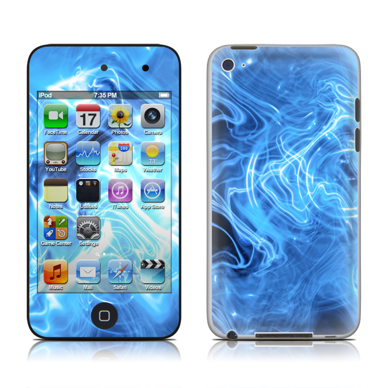 Blue Quantum Waves iPod touch 4th Gen Skin