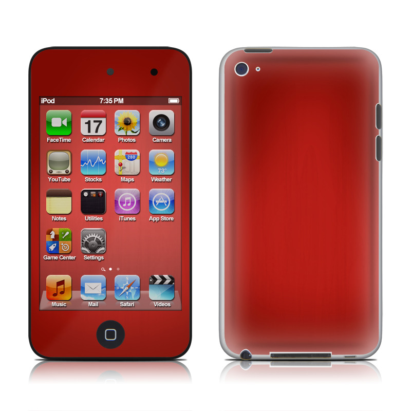 Red Burst iPod touch 4th Gen Skin