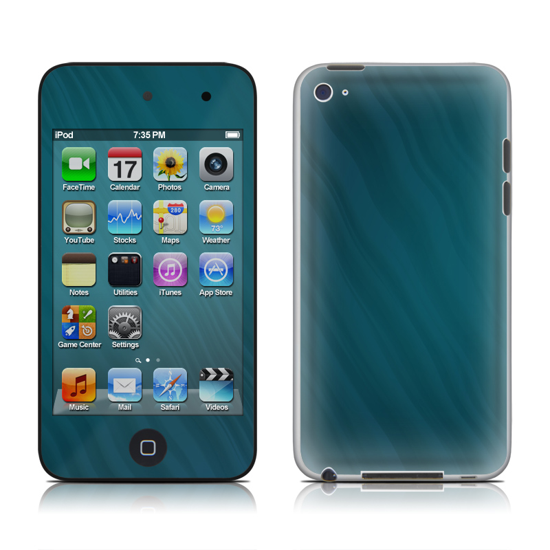 Rhythmic Blue iPod touch 4th Gen Skin