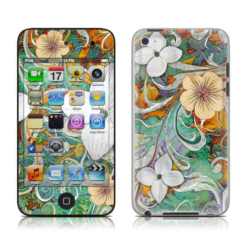 Sangria Flora iPod touch 4th Gen Skin