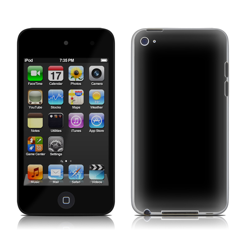 Solid State Black iPod touch 4th Gen Skin