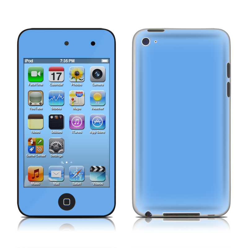Solid State Blue iPod touch 4th Gen Skin
