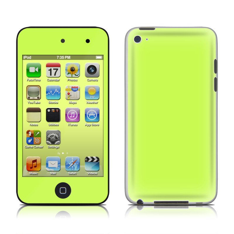 Solid State Lime iPod touch 4th Gen Skin
