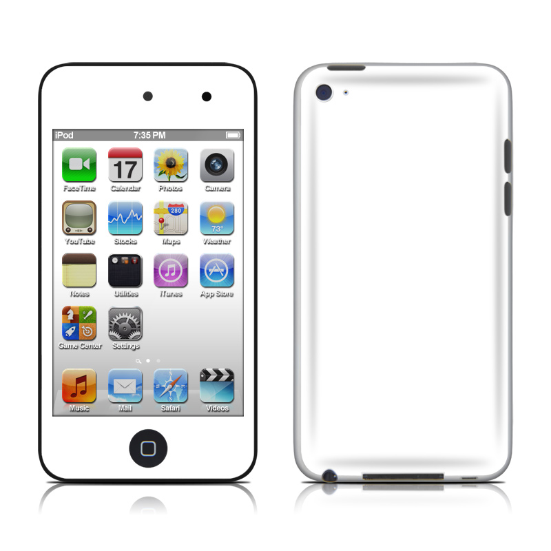 iPod touch 4th Gen Skin design of White, Black, Line with white colors