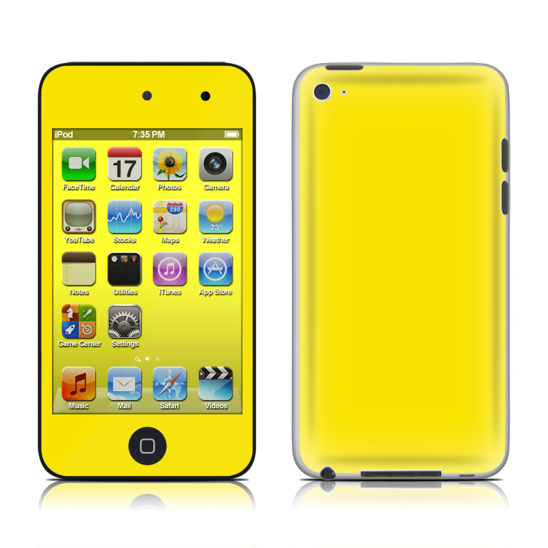 Solid State Yellow iPod touch 4th Gen Skin
