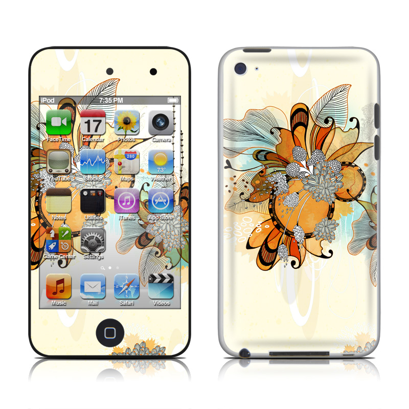Sunset Flowers iPod touch 4th Gen Skin