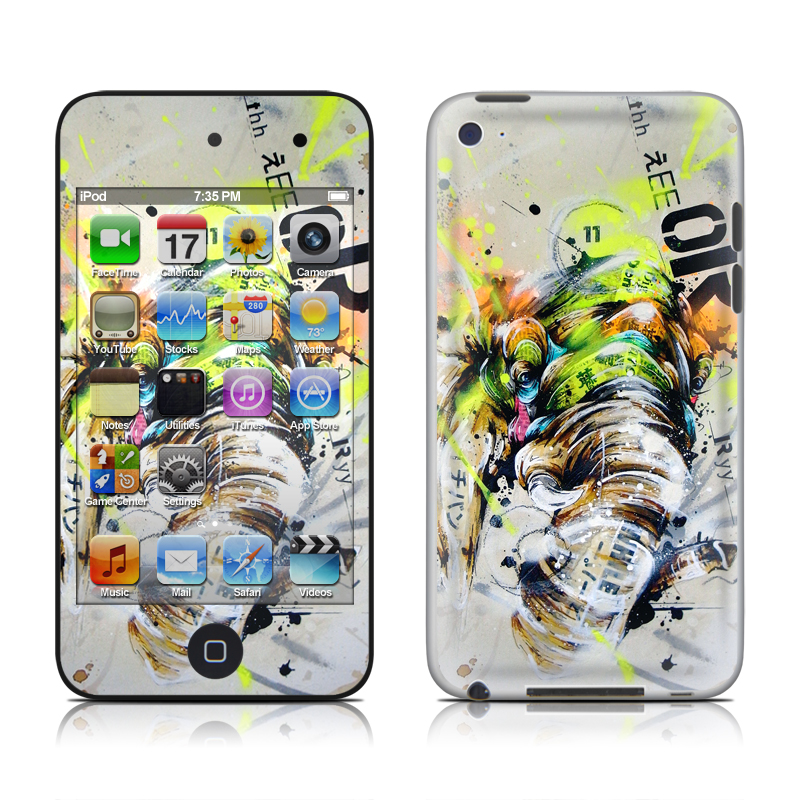 iPod touch 4th Gen Skin design of Watercolor paint, Graphic design, Illustration, Acrylic paint, Art, Modern art, Painting, Visual arts, Paint, Graphics with gray, black, green, red, blue colors