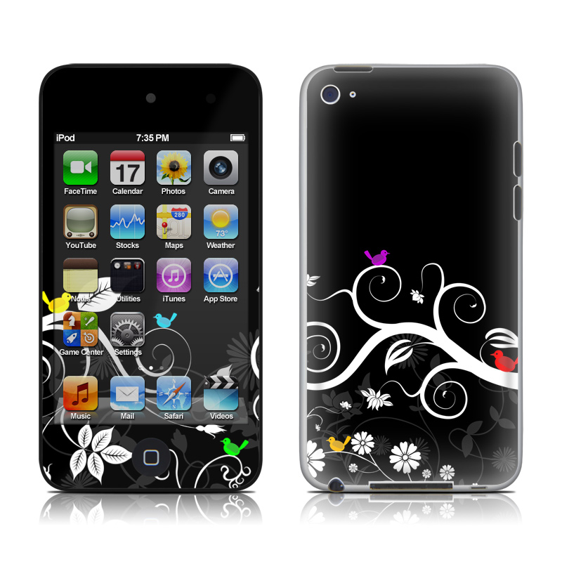 Tweet Dark iPod touch 4th Gen Skin