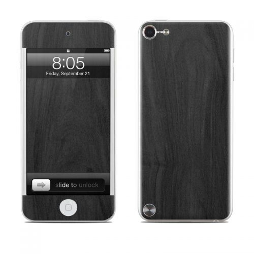 Black Woodgrain iPod touch 5th Gen Skin