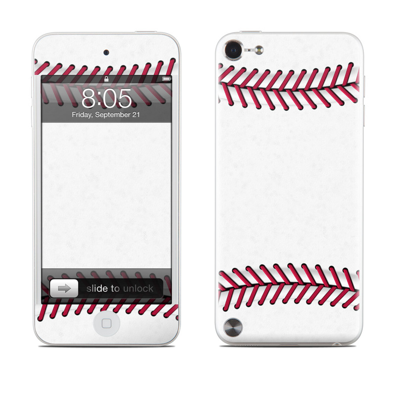 iPod touch 5th Gen Skin design of Red, Line, Pink, Parallel, Paper with white, red colors