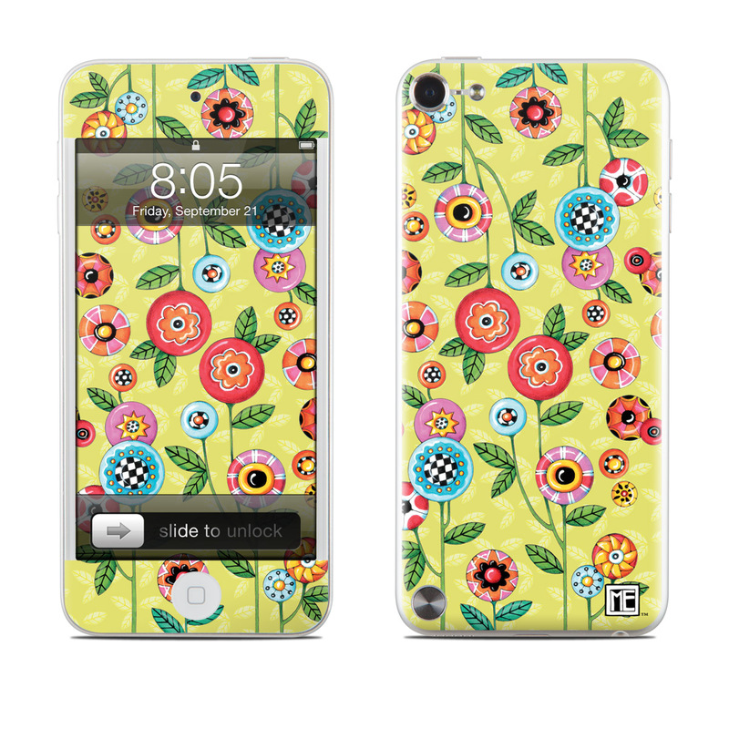 Button Flowers iPod touch 5th Gen Skin