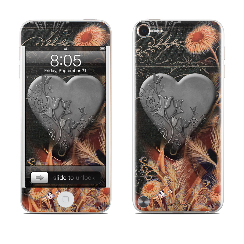 Black Lace Flower iPod touch 5th Gen Skin