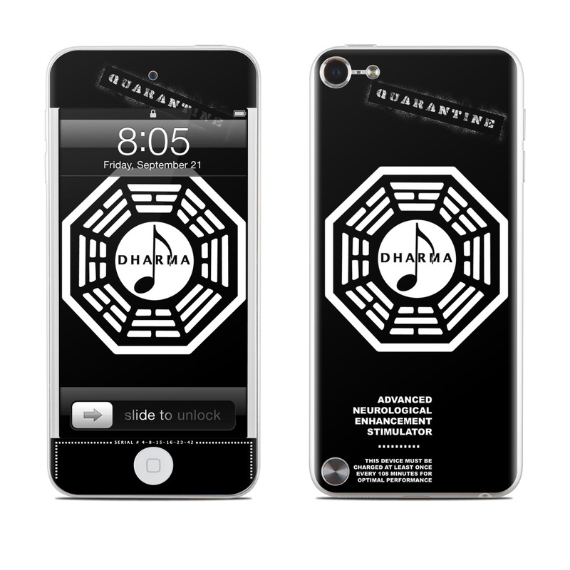Dharma Black iPod touch 5th Gen Skin