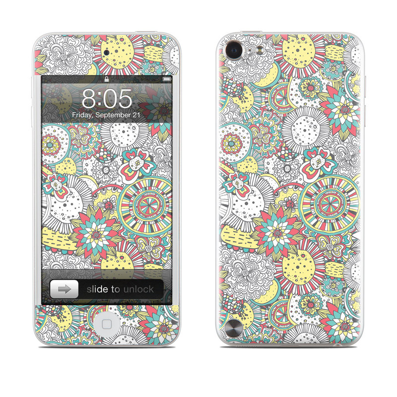 Faded Floral iPod touch 5th Gen Skin