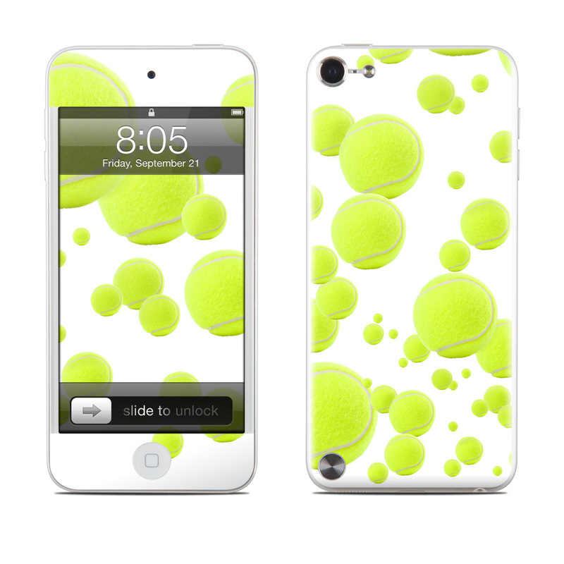 iPod touch 5th Gen Skin design of Green, Yellow, Line, Pattern, Design, Circle, Graphics, Clip art with white, green, yellow, gray colors