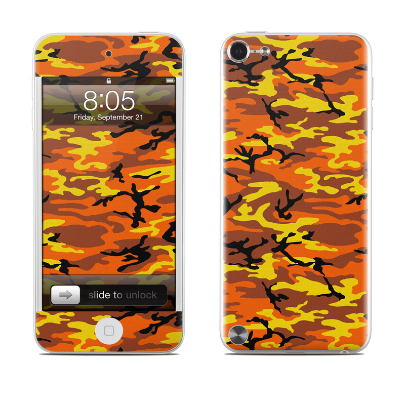 Orange Camo iPod touch 5th Gen Skin