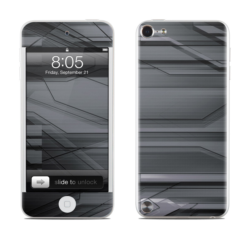 iPod touch 5th Gen Skin design of Black, Monochrome, Line, Architecture, Black-and-white, Design, Pattern, Sky, Automotive design, Ceiling with black, gray colors