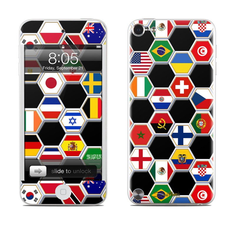 Soccer Flags iPod touch 5th Gen Skin