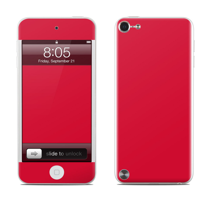 Solid State Red iPod touch 5th Gen Skin
