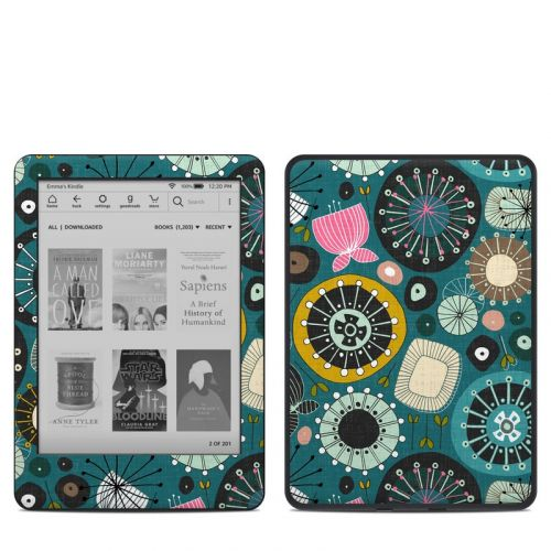 Blooms Teal Amazon Kindle 10th Gen Skin