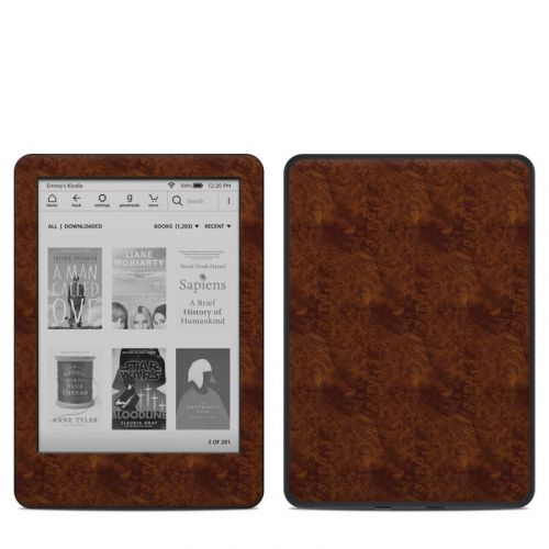 Dark Burlwood Amazon Kindle 10th Gen Skin