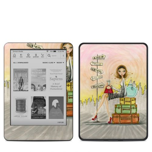 The Jet Setter Amazon Kindle 10th Gen Skin
