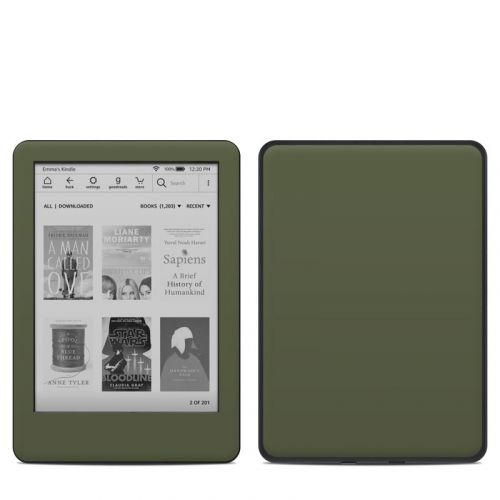 Solid State Olive Drab Amazon Kindle 10th Gen Skin