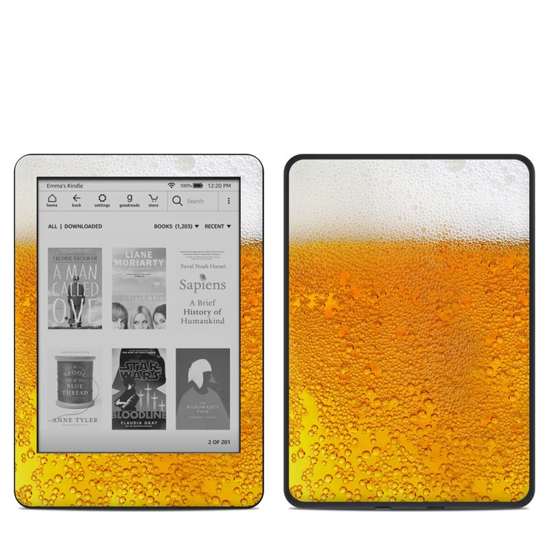 Amazon Kindle 10th Gen Skin design of Yellow, Orange, Amber, Water, Caramel color, Beer, Drink with yellow, white colors