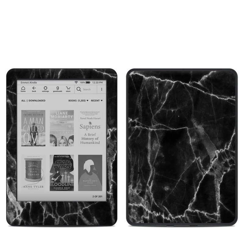 Amazon Kindle 10th Gen Skin design of Black, White, Nature, Black-and-white, Monochrome photography, Branch, Atmosphere, Atmospheric phenomenon, Tree, Sky with black, white colors