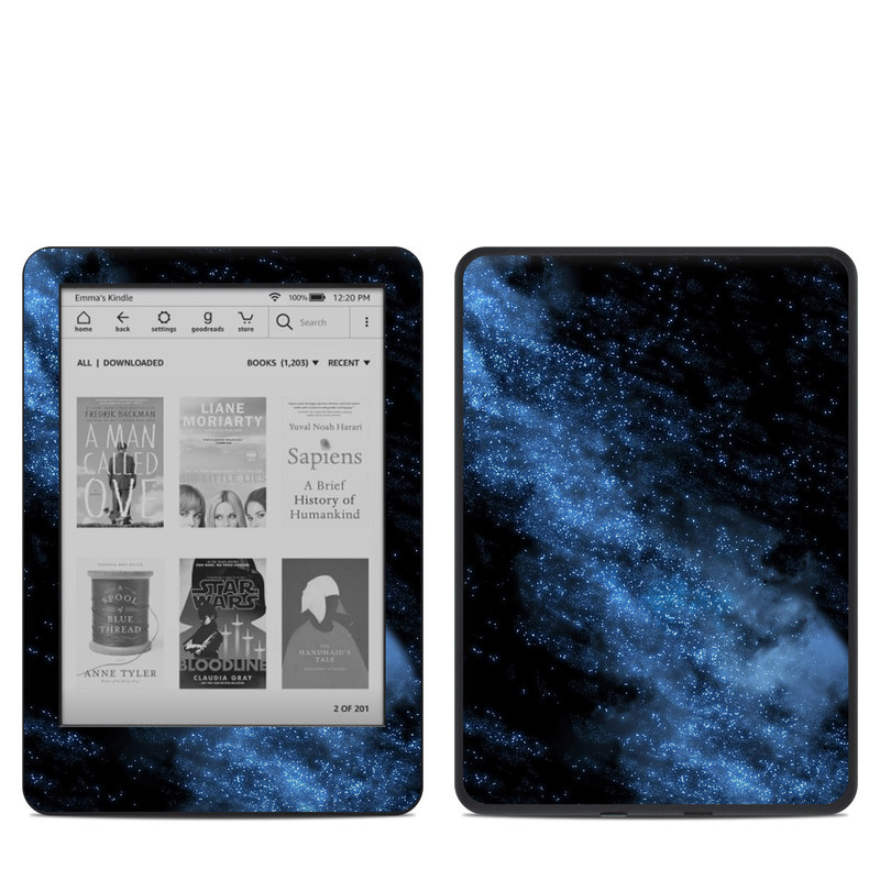 Amazon Kindle 10th Gen Skin design of Sky, Atmosphere, Black, Blue, Outer space, Atmospheric phenomenon, Astronomical object, Darkness, Universe, Space with black, blue colors