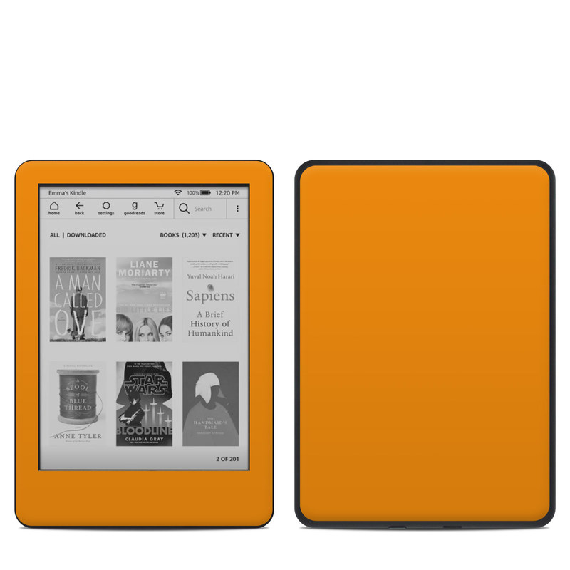 Amazon Kindle 10th Gen Skin design of Orange, Yellow, Brown, Text, Amber, Font, Peach with orange colors