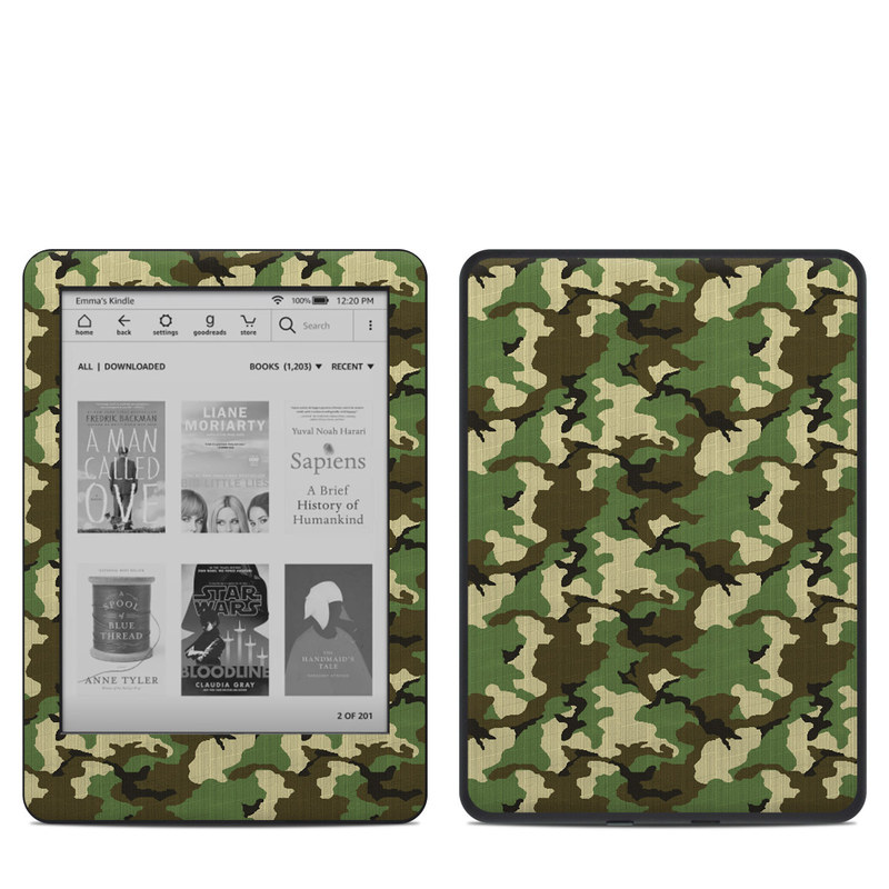 Woodland Camo Amazon Kindle 10th Gen Skin