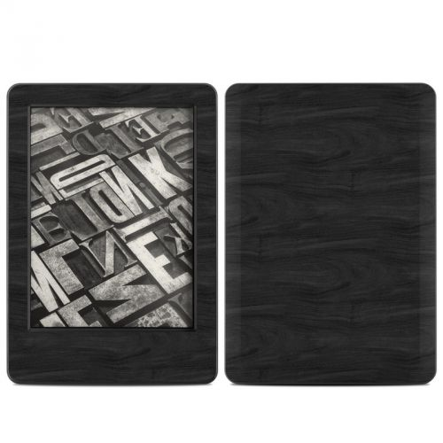 Black Woodgrain Amazon Kindle (2014) Skin