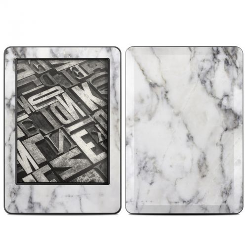 White Marble Amazon Kindle (2014) Skin